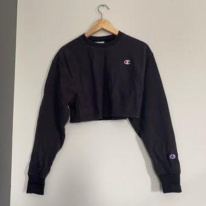 Champion crop top sweatshirts